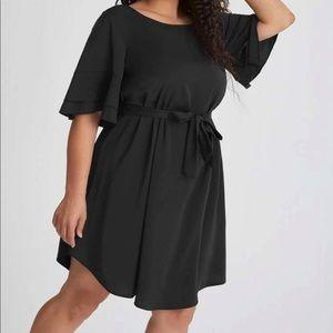 Boho flounce sleeve tunic dress